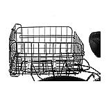 FDKJOK Cesta trasera para bicicleta, cesta de mochila para el portaequipajes, montaje fijo, cesta para bicicleta, mochila escolar, cesta trasera plegable, cesta para bicicleta