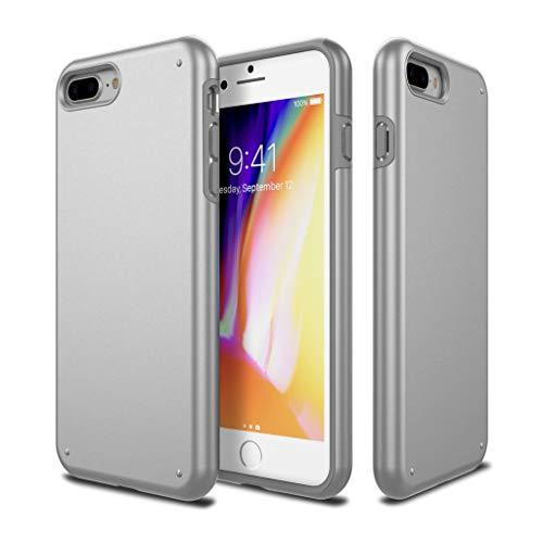 QNNEL Custodia per iPhone 8 Plus/7 Plus Colore Argento Grigio Dura Ammortizzatore Antiurto Protezione Goccia Protective Case Phone Case TPU Extreme Shockproof Full Protection CHR-318579