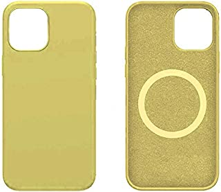 Silicone case MagSafe cover for Apple iPhone 12 Pro Max - light Yellow