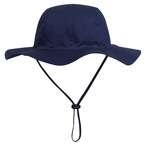 Baby Summer Visor Hat Sun Protection Cap Kid Beach Cap Bucket Hat Sunscreen Navy Blue
