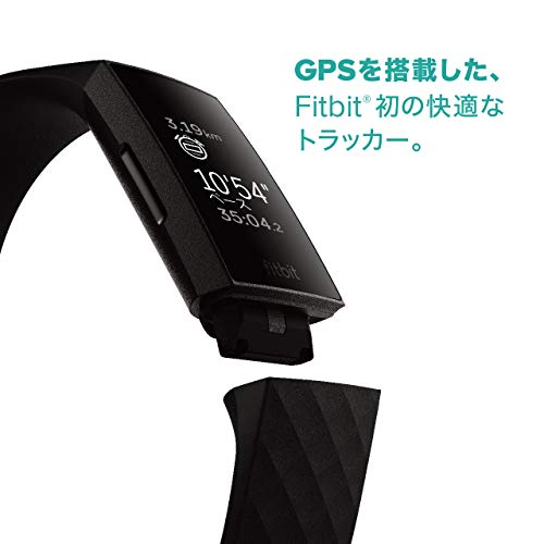 FitbitCharge4GPS搭載フィットネストラッカーBlack/BlackL/Sサイズ[日本正規品]FB417BKBK-FRCJK