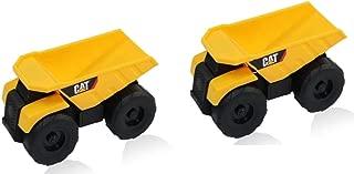 Caterpillar CAT Mini Machine Construction Truck Toy Car Dump Truck (2 Pack)