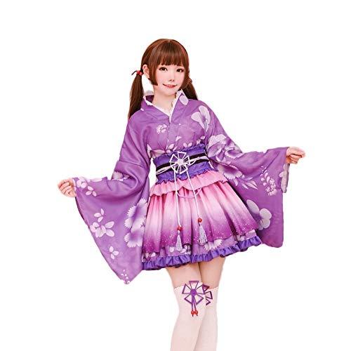 Anime Lovelive! Nozomi Tojo Yukata Awaken disfraz de cosplay Love Live Mujeres Kimono Halloween Party Dress
