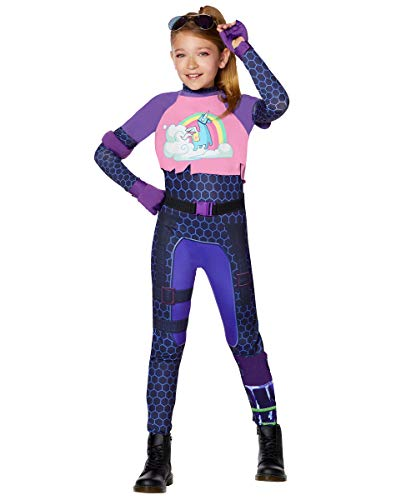 Spirit Halloween Kids Fortnite Brite Bomber Costume - M