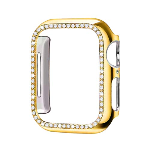 Diamond case cover For Apple watch band 5 4 3 2 1 case cover 44mm 40mm 42mm 38mm for iwatch band Crystal protective bumper