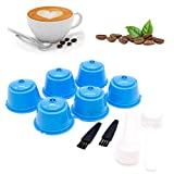 Hamkaw 6 Pcs K-Cup Reusable Coffee Filter, Refillable Coffee Capsules Refillin for Dolce