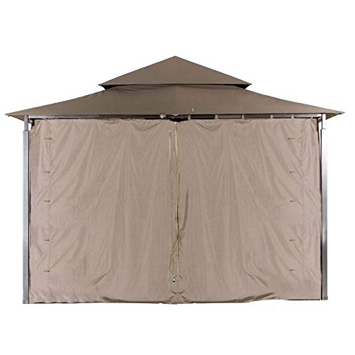 ABCCANOPY Replacement Gazebo Privacy Wall for Target Madaga Gazebo for Model L-GZ136PST (Brown)