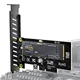 AMPCOM M.2 NVME SSD to PCIe 4.0 Adapter Card, 80Gbps SSD PCIe4.0 X4 Adapter for Desktop PC , PCI-E GEN4 Full Speed