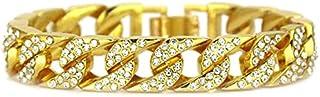 Cuban chain gold and silver Miami Cuban necklace diamond chain hip hop jewelry men's ladies Cuba chain