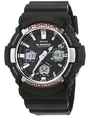 Casio G-SHOCK Orologio 20 BAR, Giallo/Nero, con Ricezione Segnale Radio e Funzione Solare, Analogico - Digitale, Uomo, GAW-100-1AER