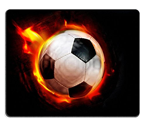 luxlady Gaming Mousepad Fußball durch Flammen Bild-ID 358366