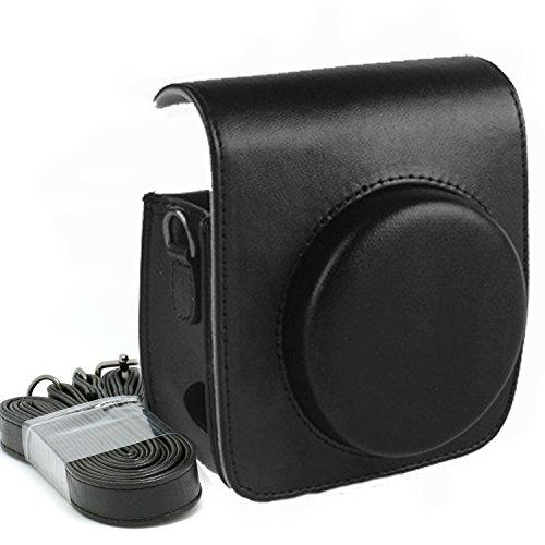 KALDA Tasche für Mini 90 Neo Classic Sofortbildkamera, Schutztasche aus Weichem Kunstleder mit Schulterriemen (Schwarz)