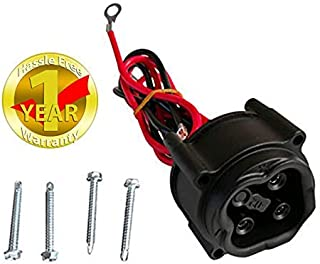 Fat Dragon GOLF 48V MAC DC Charger Plug, Powerwise Receptacle for Yamaha Electric 2008-2010 G29, JR1-H235A-00, JW2-H6181-02