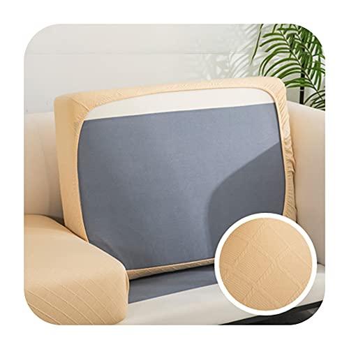 Jacquard dicker Sofakissenbezug Ecksofa Funktionenschutz Sitzpolster Schonbezug elastisch einfarbig Couchbezug 2-C-2