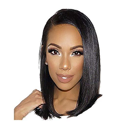 Perruque noire pour les femmes, longue perruque naturelle naturelle duveteuse synthétique réaliste synthétique pour cheveux avec cheveux longs