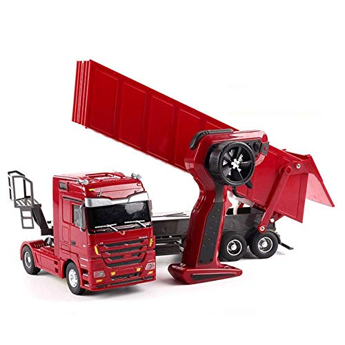 Wghz RC Big Truck 1:10 Radio Controles Heavy Trucks Heavy Car Remote Control Model Engineering Container Vehicle Best Birthday Present Boy Girl