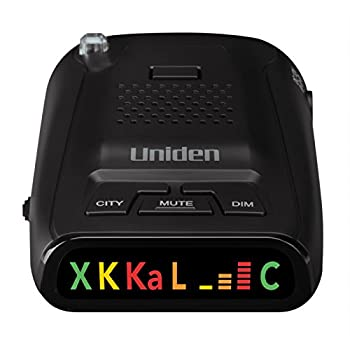 Uniden DFR1 Long Range Laser and Radar Detection 360° Protection City and Highway Modes Easy-to-Read Color Icon Display with Signal Strength Meter Bars,Black
