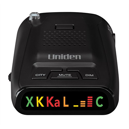 Uniden DFR1 Long Range Laser and Radar Detection, 360° Protection, City and Highway Modes, Easy-to-Read Color Icon Display with Signal Strength Meter Bars