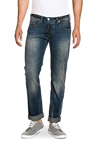 Herrlicher Herren Herren Jeans Hose Straight Fit Mid Waist Stretch Komfort Elasthan