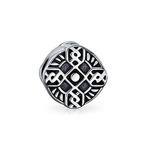 Religious Celtic Trinity Cross Irish Viking Love Knot Charm Bead For Women 925 Sterling Silver Fits European Bracelet