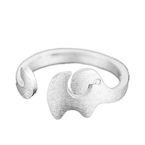 Doitsa Anillo De Tamaño Libre Ajustable Elefante
