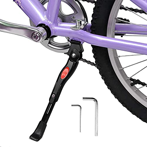 SEISSO Bike Bicycle Kickstands Adjustable Aluminum Alloy Center Mount for 16 18 20 Inch Bicycles Kickstands for Mountain Bike Road Bike 16-20 Inch Bicycles Adult