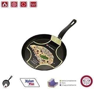 La Ideal Doble Revestimiento Antiadherente sartén para Tortitas, Color Negro, 28cm, 12Unidades
