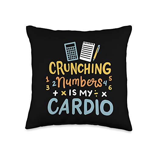 Funny CPA Gifts Certified Public Accountant CPA Funny Throw Pillow, 16x16, Multicolor
