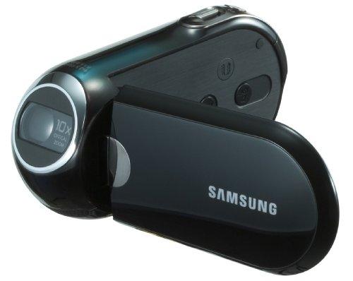 Samsung SMX-C10LP SD Camcorder (SDHC/MMC Card, 10-Fach Opt. Zoom, 6,9 cm (2,7 Zoll) Display) blau