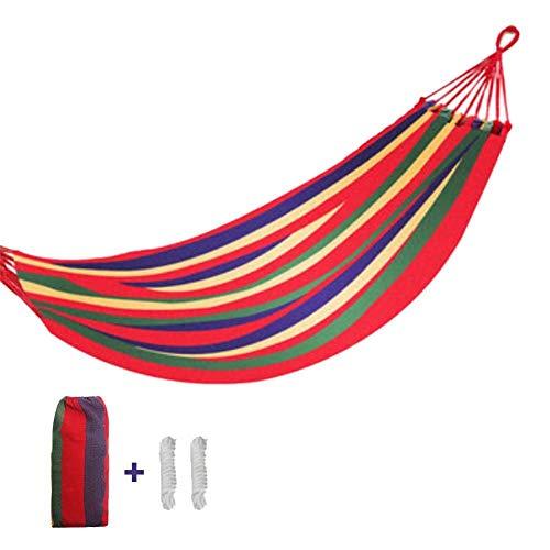 HYLEI Verdickte Leinwand Hängematte Tragbare Outdoor Camping Freizeit Bett Gartenmöbel Hängesessel Schlaf Schaukel Hangmat Mit Tasche