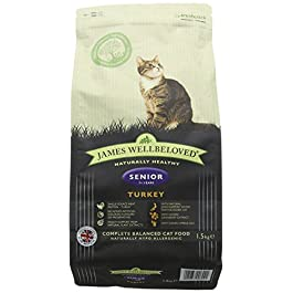 James Wellbeloved Turkey and Rice Senior Dry Cat Food 1.5 Kg
