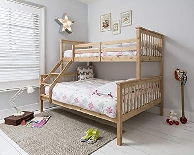 Noa and Nani - Hanna Triple Bed Kids Bunk Bed - (Natural)