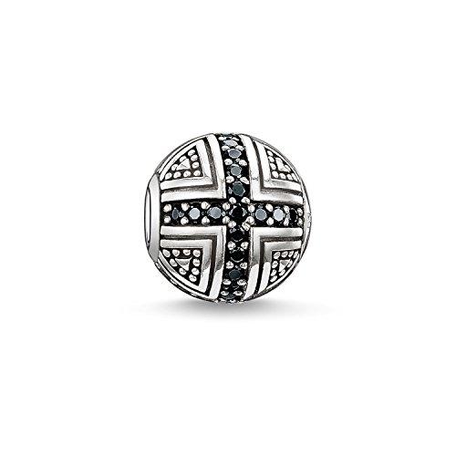 Thomas Sabo Karma Bead Held Beads K0030-051-11 - Cuenta para hombre y mujer, plata de ley 925, circonita negra