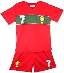 Portugal Niños Conjunto – Camiseta & Pantalones Cortos de fútbol de Verano