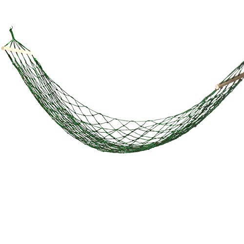 HULDORO Nylon Woven 270x100cm Hammock Bed Unmarried People Hammock Swing Encampment Travel Garden Max Load 150kg travel hammock (Color : Green)