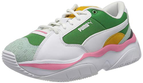 Puma Storm.y Colour Block Wn's, Zapatillas para Mujer, Verde (Amazon Green White 01), 37 EU