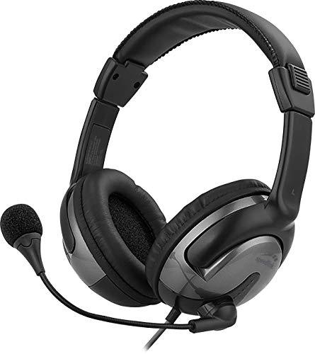 Speedlink SENTO USB Headset – Stereo-PC-Headset mit integrierter Kabelfernbedienung, USB-Anschluss, schwarz, Grau, 9,8 x 22,2 x 27,2 cm