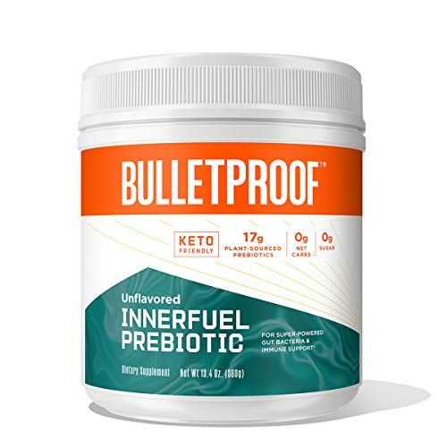 Bulletproof InnerFuel Prebiotic for Digestive Health and Immune Support, Plant-Based Dietary Fiber for Super-Powered Gut Bacteria, Unflavored, 13.4 Ounces