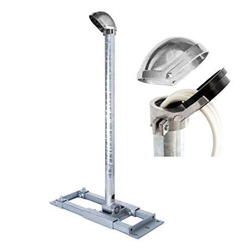 PremiumX Deluxe X90-48 Dachsparrenhalter 90cm Mast Ø 48mm SAT Dach-Sparren-Halterung inkl. ALU-Mastkappe mit Kabel-Durchführung