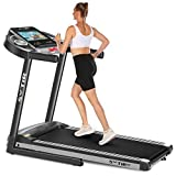 SYTIRY Home Treadmill with 12'' Inch Touchscreen, 3.25 HP Folding Treadmill for Home with WiFi Networking, Aerobic Fitness Trainer for Running, Walking,and Jogging,Suitable for Home/Office/Gym