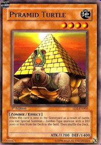 YuGiOh Zombie Madness Structure Deck Pyramid Turtle SD2-EN005 Common [Toy] [Toy]