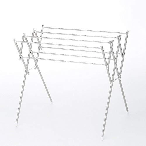 Support De Séchage Support De Séchage Pliable En Acier Inoxydable Pour Plancher Grand Support De Séchage Mobile Pour Support De Séchage Télescopique 61x48-81x75.5cm,Silver