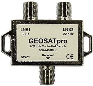 GEOSATpro 22KHz Tone Control Satellite Switch 0/22 KHz 2x1 Switch SW21