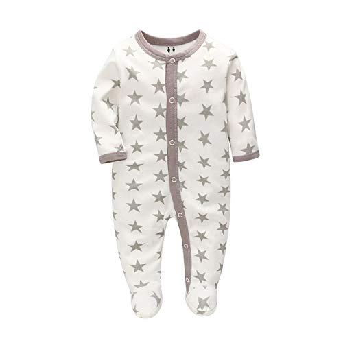 Uni-Wert Baby Strampler Jungen Mädchen Schlafanzug Baumwolle Pyjamas Overalls Säugling Spielanzug Baby Nachtwäsche Cartoon Schlafstrampler