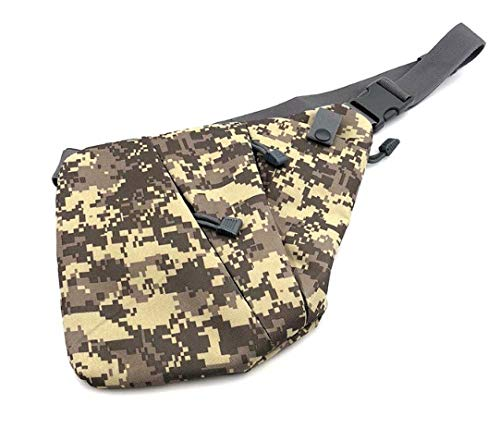 Generic Sac de Rangement Tactique Multifonction avec bandoulière ajustée antivol pour Homme Sac de Poitrine décontracté Sac Banane de Sport (Sac à Main Droite Camouflage)