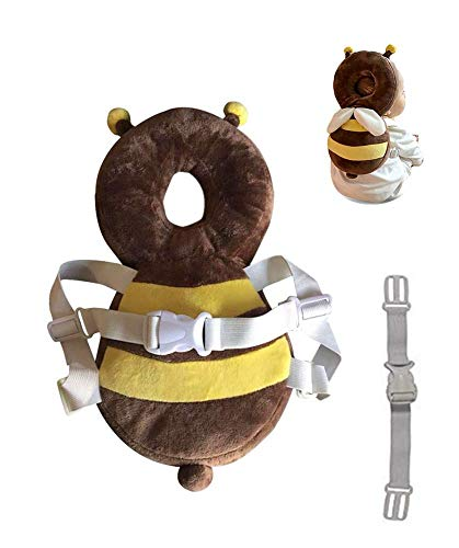 Hewnda Baby Toddlers Head Protective, Adjustable Infant Safety Pads for Baby Walkers Protective Head Cute Small bee