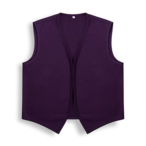 Unisex No Pocket Button Uniform Vest Halloween Costume Outfit (2X-Large, Purple) - http://coolthings.us