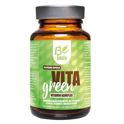 BeGreen Vita Green | hochdosierter Vitaminen C + Multivitamin-Komplex | alle wichtigen B-Vitaminen, Zink und Selen | natürliche Mineralien, Spurenelemente für dein Immunsystem | 100% vegan