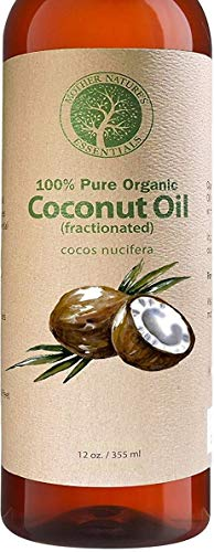 Organic Fractionated Coconut Oil Skin - 100% Pure & Natural. 12oz Wildcrafted & Organic. The Best Carrier Oil + Massage Oil + Moisturizer. Perfect for Roller Balls and Nail Oil Pens.