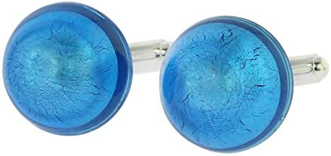 GlassOfVenice - Gemelos de Cristal de Murano, diseño Veneciano, Color Azul